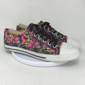 Airwalk Womens Paint Canvas Sneakers Shoes Size 10